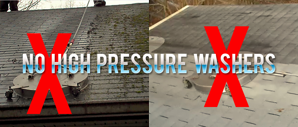 Low Pressure Roof Cleaning And House Washing Services